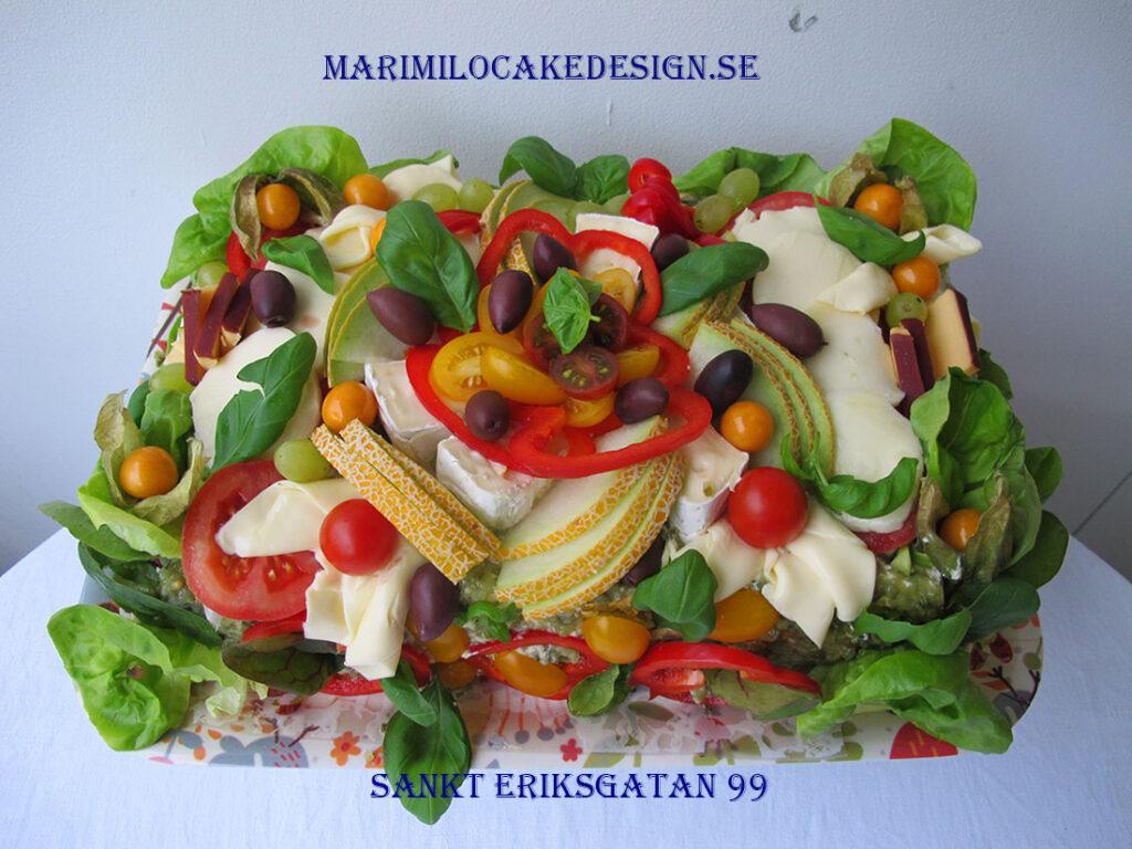 Vegetarisk Smörgåstårta Vasastan