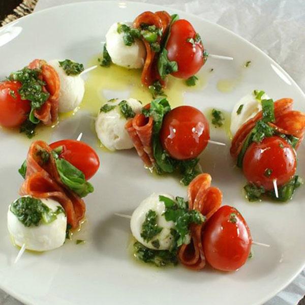 Pepperoni Caprese