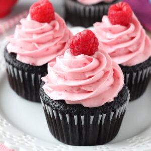 Hallon & Choklad Cupcakes