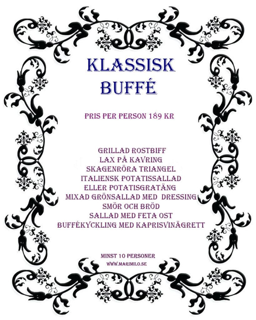 Klassisk Buffé Catering Stockholm