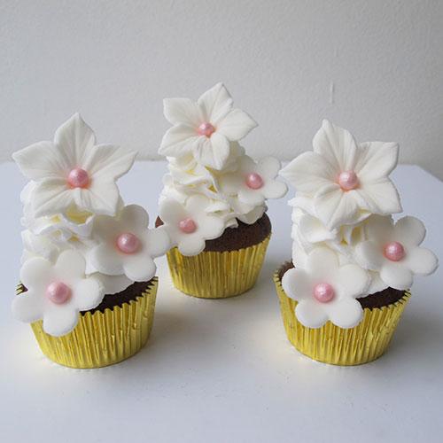 Mini cupcakes guld